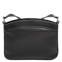 2226 Siracusa Medium Top Zip Shoulder Bag in Black